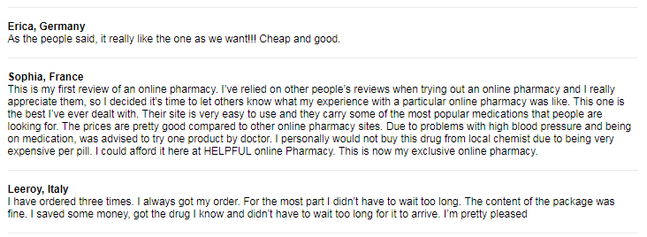 Online Rx Customer Reviews