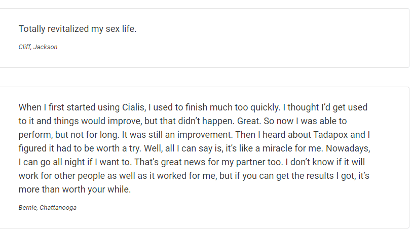 A person by the name Cliff has very few words when describing the capabilities of tadapox