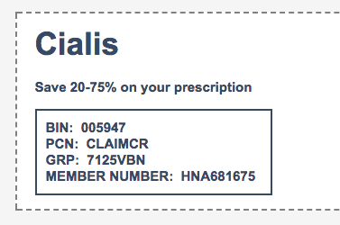 These coupons can only be used on the particular pharmacy website and its affiliate pharmacies